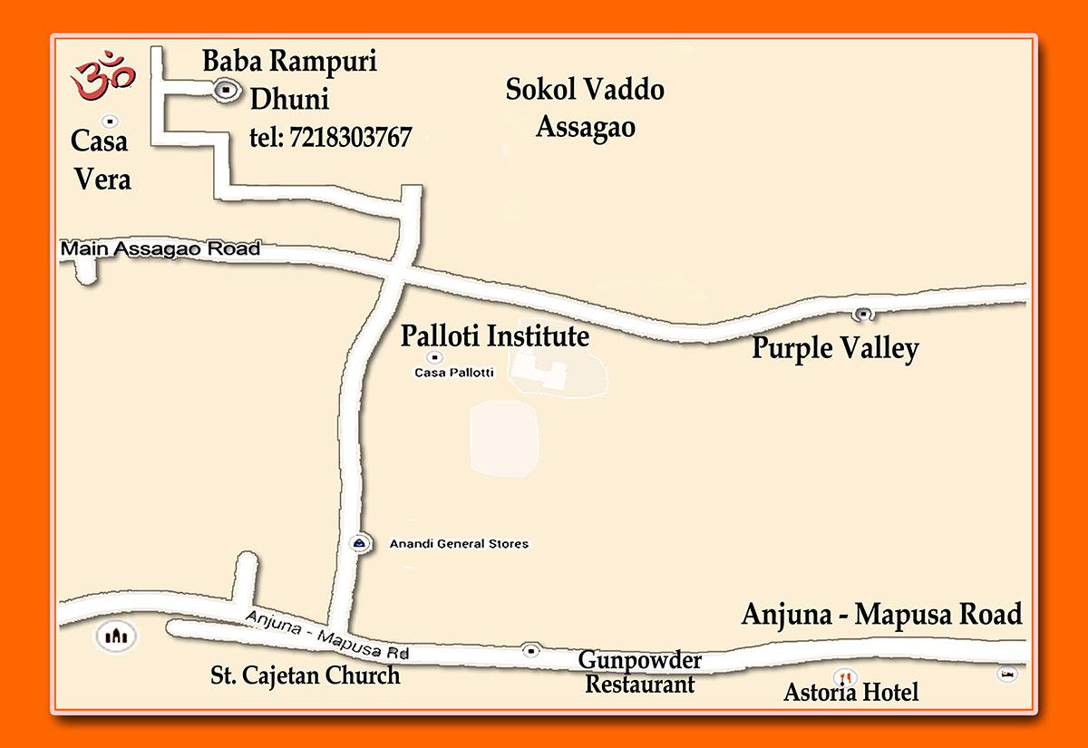 Baba Rampuri Dhuni Map