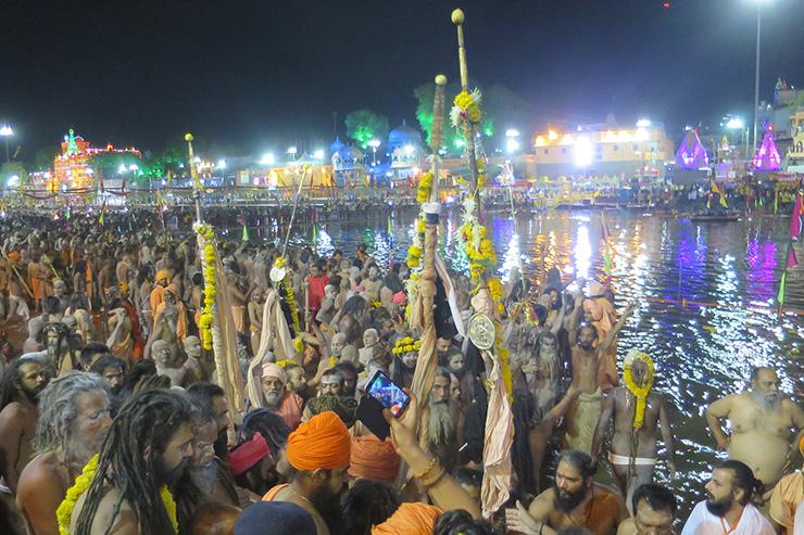 Naga Babas of Juna Akhara at second shahi snan, Ujjain 2016