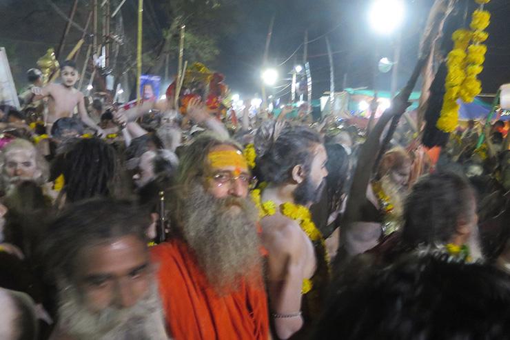 Naga Baba Julus at Kumbh Mela