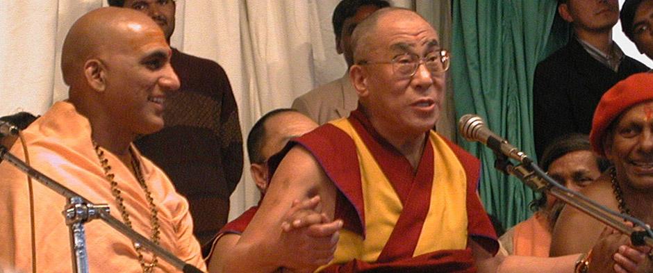 H.H. Swami Avdheshanand Giri Ji and H.H. Dalai Lama