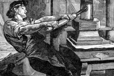 Gutenberg's press CU
