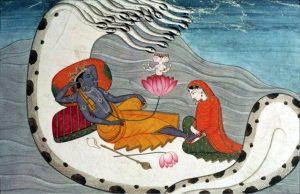 Vishnu and Lakshmi on Shesh Nag
