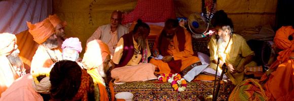 Elders of Juna Akhara at the Kumbh Mela in Haridwar